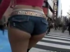 asian legal age teenager wears petite shorts