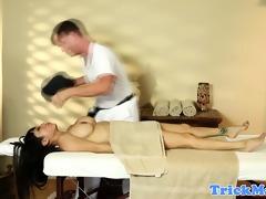 breasty oriental gaias topless trick massage