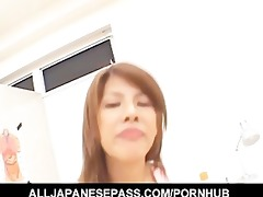 concupiscent oriental chick receives her face