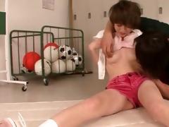 virginal oriental teen receives cum-hole fingered