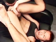 cute oriental twink got his hairy wazoo fucked