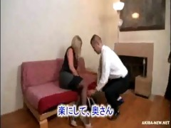 marvelous aged golden-haired wife compulsory by