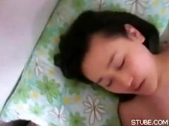 sleepy oriental cutie oral sex oral ball batter