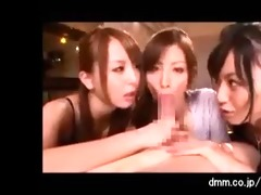 6 sexy japanese gals engulf one favourable chaps
