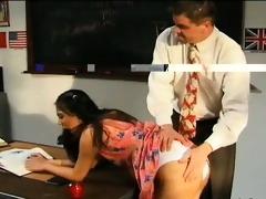 brutal three-some with korean schoolgirl