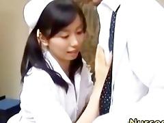 japanese oriental nurse engulfing dong