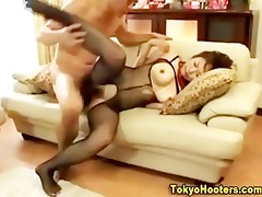 japanese large tit hottie hardcore fuck and spunk