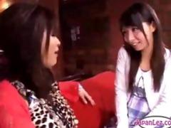 hairless cum-hole oriental lesbian babes rubbing