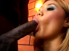 asia takes a big black dick in her wazoo