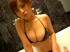 hot asian big breast tease.
