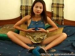 small oriental legal age teenager got a massive