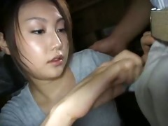 japanese woman sniff and sucks workers smelly knob