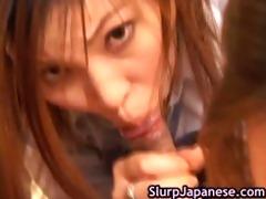 japanese harlots take turns to engulf plump part2