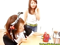 weird oriental games with women getting off
