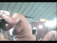 peeping at oriental hotties in changing room