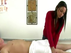real japanese masseuse giving oral job