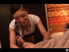 breathtaking oriental masseuse giving erotic