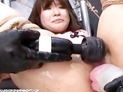 japanese bondage sex pour threesome jizz over me