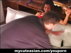 moist round butt oriental girl pounded by cock!
