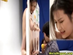 nippon youthful bitches getting blowjob