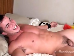 hot hunky muscle tied and tickled - nick eros