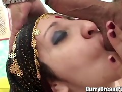 fat indian whore acquires creampied in her hairy