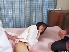 fascinating rie mizuno toy insertion act