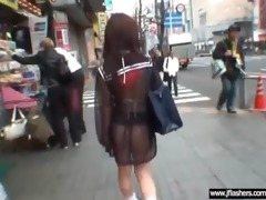 japanese beauty flashing body and getting sex