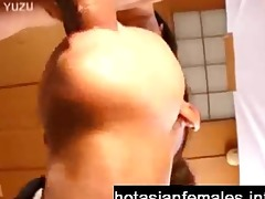 japanese lady sucks pounder