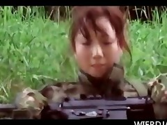 japanese babes in the military acquire hungry for