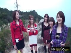 four babes in nature on a hike mizuki ashiya