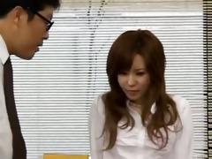 asian secretary from tokyo with wazoo milk