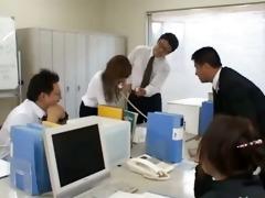 asian secretary from tokyo with gazoo milk