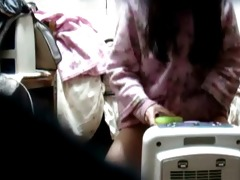 asian playgirl on hidden camera at home