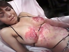 excited japanese doxy manacled and tortured for
