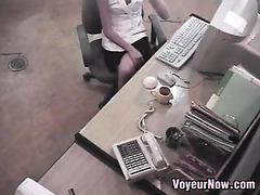 oriental secretary caught masturbating