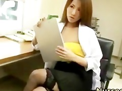 hot japanese nurse in nylons
