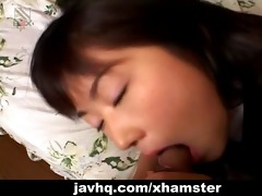 dozing japanese teen wakes up for a impure