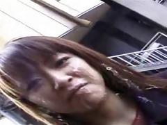 japanese humiliation - public facial cum walk 6
