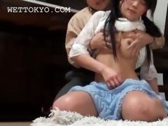 oriental breasty teenage maid wet crack teased