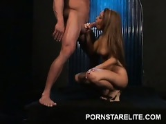 sexy oriental does striptease
