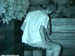 bench park sex voyeur