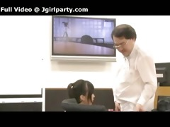 japanese boss films himself with his lascivious