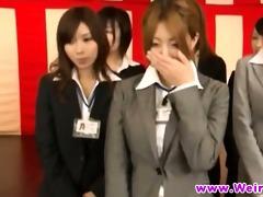 japanese youthful babes squeezing women