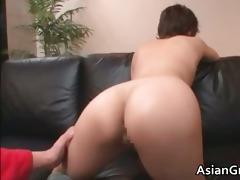 nasty oriental d like to fuck gets jizzed after