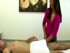 real oriental masseuse bounces on pounder and