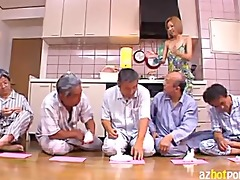 japanese maid drilled by immodest old chaps