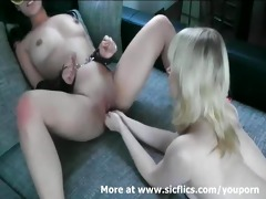 sexy oriental honey double fist screwed in her