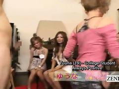 subtitles cfnm group of japanese gyaru pecker