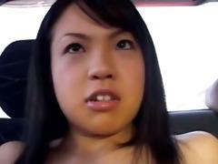 non-professional korean hooker in the car